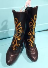 Disney Frozen Girl Toddler Anna Black Costume Boots Size 7/8, 9/10, 11/12, 13/1
