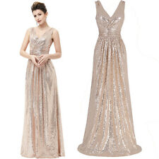 GK Sequined Evening Prom Formal Wedding Bridesmaid Dress Cocktail Ball Prom Gown