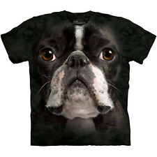 BOSTON TERRIER DOG FACE T-SHIRT by The Mountain Giant Head Mens Sizes S-3XL NEW