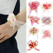 Wedding Rose Wrist Corsage Bracelet Flowers Prom Homecoming Military Ball