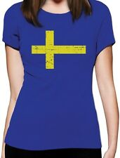 Sweden Flag Vintage Style Retro Swedish Women T-Shirt Gift Idea