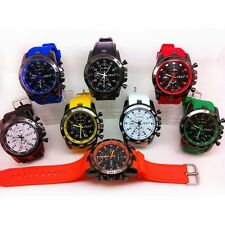 Fashion Casual Watch Rubber Band Analog Big Dial Quartz Wrist Watch Unisex