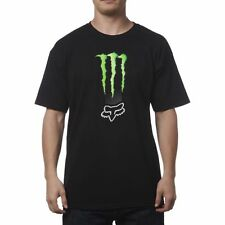 NEW FOX RACING MONSTER ENERGY ZEBRA TEE BLACK SHORT SLEEVE S/S T SHIRT