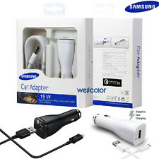 OEM Fast Car Charger+5 Ft Micro USB Cable for Samsung Galaxy S6 S7Edge Note 4 5