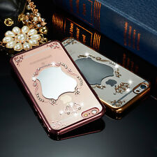 Luxury Diamond Mirror Ultra-thin Clear Soft Back Case Cover for Apple iPhone