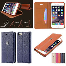 Magnetic Flip Card Slot PU Leather Wallet Stand Case Cover For iPhone Samsung