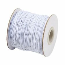 1roll 1mm/2mm White Colour Round Elastic Drawstring Cord DIY Sewing Crafts