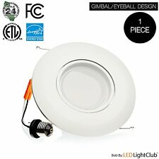6 Inch Recessed LED Gimbal Downlight Eyeball Retrofit Light Bulb Trim Kit 114