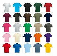 3 Pack Men's Fruit of the Loom Plain 100% Cotton Blank Mix Tshirt T-Shirt New