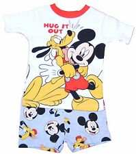 Mickey Mouse & Pluto Toddler Boy Cotton Tight Fit Shorts Sleep Set free shipping