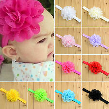 Lot Girls Kids Baby Infant Lace Flower Headband Band Headwear Toddler Hairband