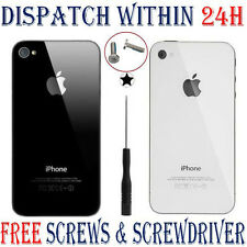 Rear Battery Cover Replacement Glass Back for Apple iPhone 4 4S + Free Tool