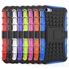 Hybrid Rugged Rubber Hard Shockproof Case Cover Skin for Apple iPhone SE 5 5S