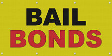 Bail Bonds Black Red Yellow MESH Windproof Fence Banner Sign