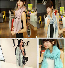 Fashion Women Warm Winter calssicStole Flower Chiffon Neck Scarf Soft Wrap Shawl