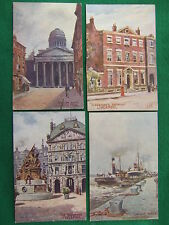 4 old postcards of Liverpool