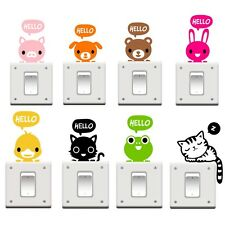 Removable Cat Switch Black Art Vinyl Decal Home Decor Wall Window Light Stickers