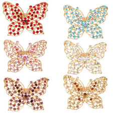 Butterfly Style Ladies Fancy Crystal Rhinestone Brooch Pin Jewelry Choose Color