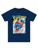 New Superman T Shirt Mens Boys Sleevless Comic