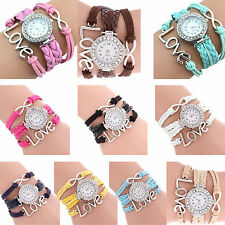 Infinity Love Charm Bracelet Bangle Watch Watch Light Blue PK