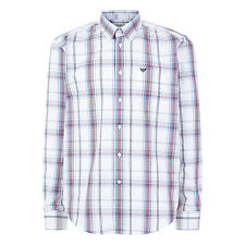 Morley Men's Polycotton Button Front Checked Long Sleeve Shirt