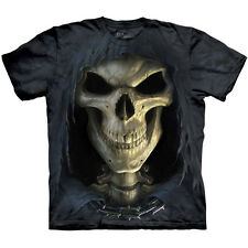 BIG FACE DEATH Skull T-Shirt The Mountain Grim Reaper Angel Metal Rock S-5XL NEW