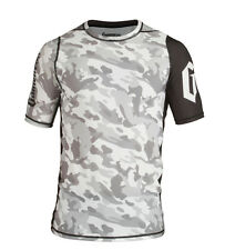 Gameness Camo Short Sleeve Rash Guard BJJ Jiu-Jitsu MMA No-Gi RashGuard
