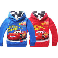 2 COLOR Cartoon Hoodey Cars Lightning McQueen Kids Coat Boys Girls Unisex Hoodie