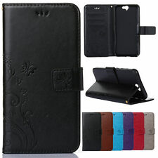 Luxury Leather Wallet Kickstand Card Slots Filp Case Cover For HTC M9/M8 mini/A9