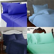 BRITISH 1000TC 5PC DUVET SET IN BLUE SHADES 100% COTTON CHOOSE SHADE & PATTERN