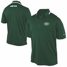 NEW $95 Nike NFL NY JETS Coaches Sideline On-Field Dri-FIT Green Polo Golf Shirt
