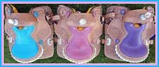 "Popular Western Mini Pony Trail Barrel Saddle 10"" BLuE PiNk PuRpLe- Gator Seat"