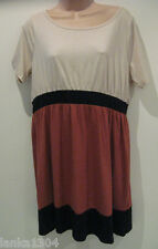 Dorothy Perkins Brown Cotton Dress (New) sizes-£26.00