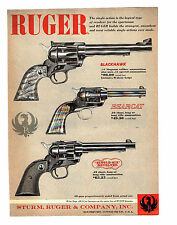 RUGER SINGLE ACTION REVOLVERS BLACKHAWK, BEARCAT, SINGLE SIX REVOLVER  1958 AD