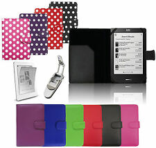 For KOBO DEVICES - HIGH QUALITY PU LEATHER STYLISH WALLET FLIP CASE SKIN COVER