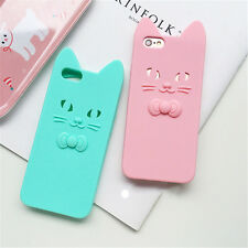 Cute 3D Cartoon Cat Ears Soft Silicone Back Case Cover For iPhone 7 Plus 6s Plus