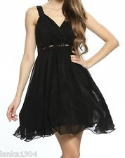 Black Net underskirt Sequin Party Prom Short  Dress Gown (NEW) UK Size 8 or 10