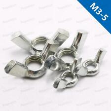 M3 M4 M5 Castellated Thumb Wing Nuts Zinc Plated Steel
