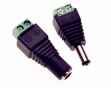 2 Pcs Male Female 2.1x5.5mm DC Power Plug Jack Adapter Connector for CCTV camera