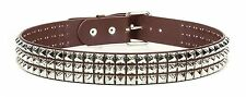Studded Brown Leather Belt Steampunk Rock Goth Meatl Thrash Heavy Metal Emo