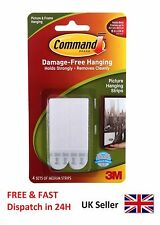 3M Command Medium Small Adhesive Strips Damage Free Picture Frame Poster Hanging