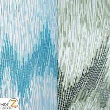 FROZEN PREMIERE ZIG ZAG SEQUINS FABRIC BY YARD BRIDAL PROM DRESS DECOR CHEVRON