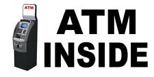 Atm Inside With Atm Machine DECAL STICKER Retail Store Sign