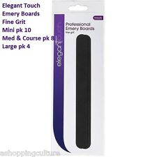 ELEGANT TOUCH EMERY BOARD NAIL FILES MINI FINE GRIT COURSE MEDIUM GRIT VARIOUS