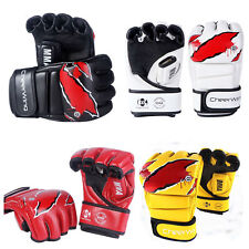 MMA UFC Boxing Gloves Sparring Grappling Fight Training Punch Mitts Leather