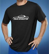 Ford Crown Victoria Police Interceptor Outline Design Tshirt NEW FREE SHIPPING