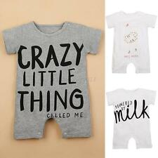Newborn Kids Baby Short Sleeve Romper Jumpsuit Girls Boy Bodysuit Clothes Outfit