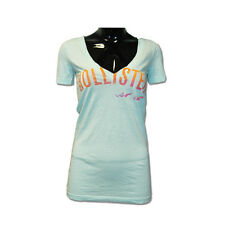 Womens Hollister V-Neck Tshirt with Hollister logo across chest 357-590-0100-024