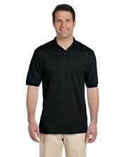 Jerzees Polo Shirt Men's Short Sleeve 5.6 oz 50/50 Jersey with SpotShield 437