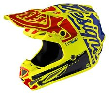 2017 TROY LEE DESIGNS SE4 CARBON MOTOCROSS ENDURO HELMET TEAM FACTORY YELLOW